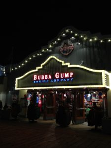 One of the many Bubba Gump's restaurants you will see!