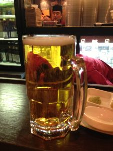 Sapporo - A Japanese beer - It comes in a Stein! Whoop Whoop