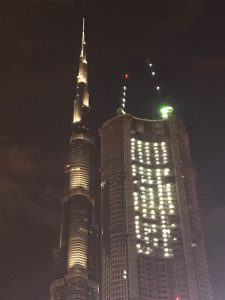 Dubai on a short stopover: Burj Khalifa At Night