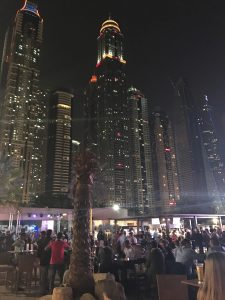 Dubai on a short stopover: Skyline From Barasti