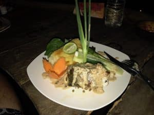 Baracuda Steak with Kampot Pepper Sauce in Kactus Koh Ta Kiev