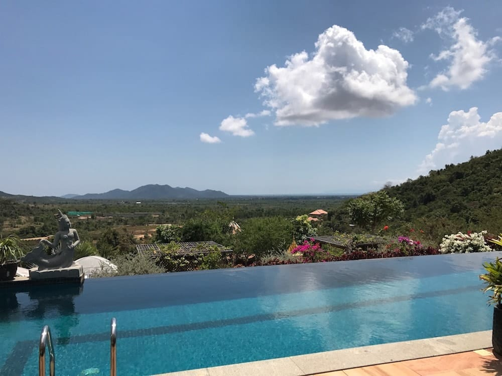 A completely different side to Cambodia - Infinity Pool Overlooking the pepper plantation