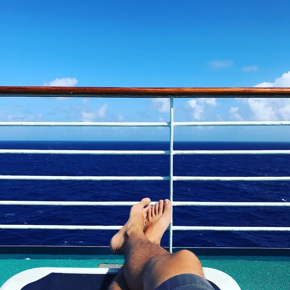 Relaxing view from the cruise